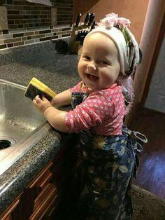 Happy little helper.