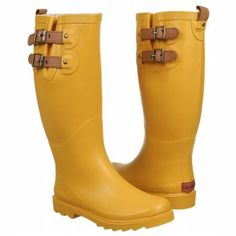 Chooka Boot Top Solid Boots (Yellow) - Women's Boots - 7.0 M