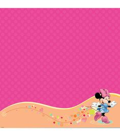 EK SUCCESS-Disney Mickey Family Collection. This package contains twelve identical sheets of 12x12 inch single-sided scrapbooking paper with glittered thermography accenting. Design: Minnie Mouse. Aci