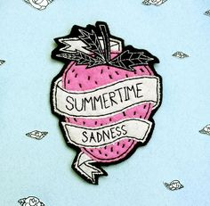 Lana Del Rey inspired Patch | Strawberry patch | Grunge patch | Feminist Patch | 90s patch | Patch for jackets