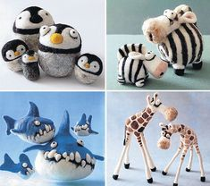 Image result for needle felted characters #feltanimalsdiy