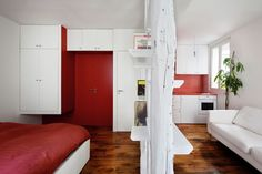 Tiny Mini Apartment in Montmartre | HomeDSGN, a daily source for inspiration and fresh ideas on interior design and home decoration.