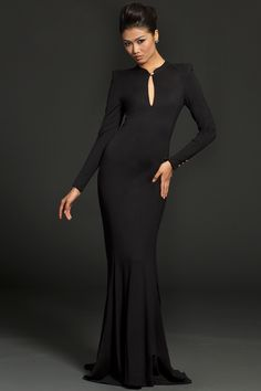 Long Sleeve Fitted Jovani Dress