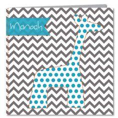 Manoah, Geboortekaartje, retro, hip, jongen, giraffe, lief