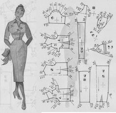 Learn to Sew Vintage Dress Patterns, Barbie Patterns, Dress Sewing Patterns, Vintage Sewing Patterns, Clothing Patterns, Patron Vintage, Robes Vintage, Modelista, Make Your Own Clothes