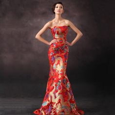 evening dress wedding the long paragraph host costumes -  http://zzkko.com/book/shopping?note=22701769 $555.50