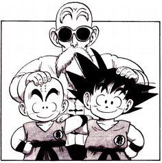 Dragon Ball   MASTER ROSHI, KRILLIN, GOKU