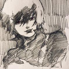 Suzuya drawing black haired @DaraenSuzu