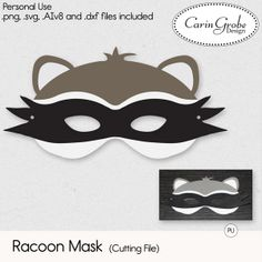 Racoon Mask (Cutting Files) #theStudio #CarinGrobeDesign