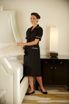 Housekeeping Uniform, Maid Uniform, Maid Outfit, Housekeeper, Skirt Suit, Blouse, Skirts, Model, How To Wear