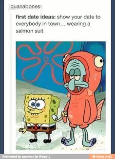 Spongebob friend episode first date - eros Spongebob Tumblr, Funny Spongebob Memes, Funny Memes, Hilarious, Def Not, Ligne Claire, My Demons, Spongebob Squarepants, Cool Cartoons