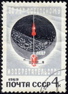 Russia – Sputnik era moon graphic with satellite