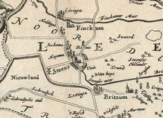 Kaart 'Beschryvinge van de heerlyckheydt van Frieslandt' 1664