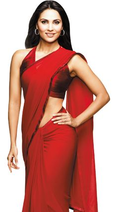 Kellogg's models wear red dresses elsewhere, so naturally it had to be a red saree for Lara in India.