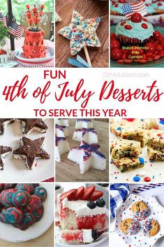 Whether it's a pitch-in or a simple celebration at home, get it started with a bang when you whip out one of these fun of July desserts to serve! Chocolate Stars, Blue Chocolate, American Flag Cake, Memorial Day Holiday, Trail Mix Recipes, 4th Of July Desserts, Cereal Treats, 4th Of July Celebration, Yummy Cupcakes
