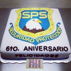 Pastel aniversario seguridad privada
