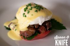 Gluten-Free Eggs Benedict meets the BLT in this delicious recipe. Love! (Paleo & 4-Hour Body friendly!)