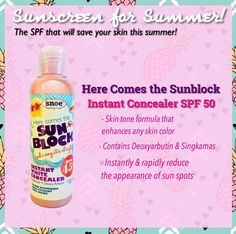 Are you ready to pack your beach stuff? Looking for a skin protector that feels and smells great too? Snoe Here Comes The Sunblock got you totally covered! It has rapid whitening effect contains powerful antioxidants and anti aging properties! #SnoeBeauty #SummerMustHave #Sunblock #Sunscreen #SnoeBeauty