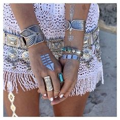 ☮ American Hippie Bohemian Style ~ Boho Jewelry Visit www.thebohemianinme.com for more bohemian and travel inspiration.
