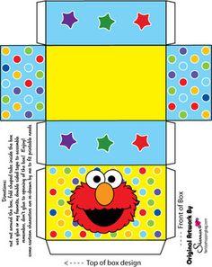 Favor Box 2, Sesame Street, Favor Box - Free Printable Ideas from Family Shoppingbag.com
