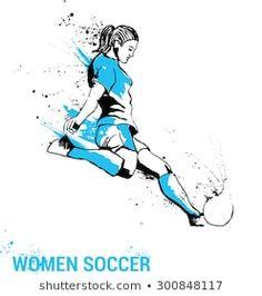 girl soccer player kicking ball. Women soccer Soccer Gifs, Soccer Pro, Soccer Quotes, Female Soccer Players, Major League Soccer, Football Girls, Girls Soccer, Soccer Drawing, Soccer Positions