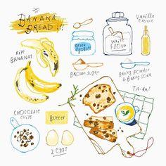 김혜빈 @moreparsley Banana Bread ill...Instagram photo | Websta (Webstagram)