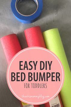 Easy DIY Toddler Bed Rail Bumper – Solution for Kids Falling Out of Bed - Modern Diy Bumper, Bumper Pool, Diy Crib, Diy Bed, Fun Activities For Toddlers, Parenting Toddlers, Parenting Hacks, Preschool Activities, Pets