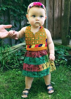 Image of Kantha Midi Dress 0-6 Months