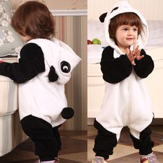 Boy Girl Toddler Costume Clothes Baby Panda Cosplay Romper Jumpsuit Outfit 0 2Y | eBay