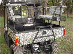 Polaris Ranger Double Back Seat & High Rack