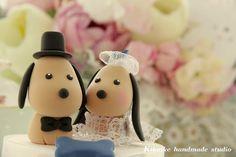 LOVE ANGELS Wedding Cake Topperlove dog by kikuike on Etsy, $120.00