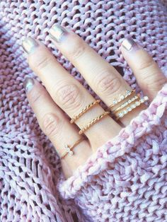 Double Twist Ring (Center ring) is the perfect ring that matches everything! #doublering #twistring #goldring #chicandshine