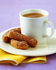 Cold Weather Comforts // Churros With Hot Chocolate Recipe