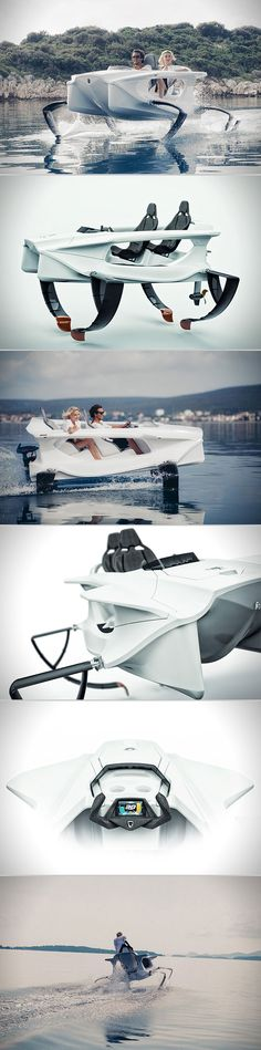 Quadrofoil is a Full-Electric Personal Hydrofoil, Uses C-Foil Technology to Fly Across Water