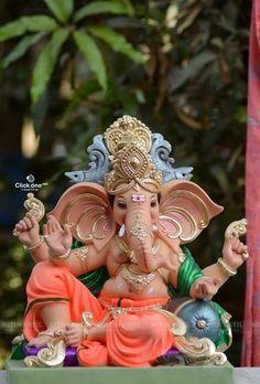 Clay Ganesha, Ganesha Painting, Ganesha Art, Sri Ganesh, Ganesh Lord, Ganesh Images, Ganesha Pictures, Eco Friendly Ganesha, Ganesh Bhagwan