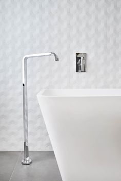 Porcelanosa Oxo Hannover Blanco | 3 Dimensional Feature Tile | Available at Ceramo | Perry Lakes Display Home by Austurban Homes