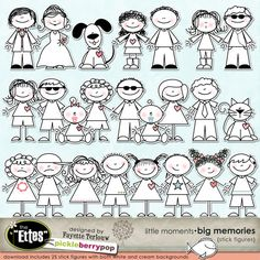 Little Moments • Big Memories Stick Figures