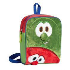 Enesco Green & Red Bob & Larry Backpack ($13) ❤ liked on Polyvore featuring bags, backpacks, green backpack, zip bag, green bags, green rucksack and backpack bags