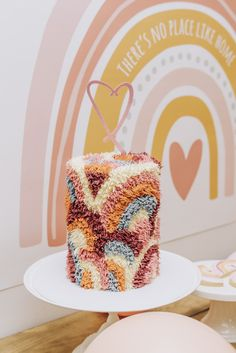 Rainbow First Birthday, First Birthday Party Themes, Baby Birthday, Hippie Birthday, Birthday Quotes, Birthday Ideas, Birthday Cake, Ideas Decoracion Cumpleaños, Bon Dessert