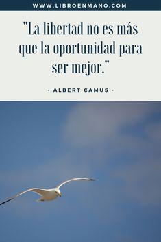 Cita literaria sobre la libertad Albert Camus, Movies, Movie Posters, Book Lovers, Political Freedom, Film Poster, Films, Popcorn Posters, Film Posters