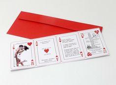 Cartas de poker - Invitaciones de boda diferentes