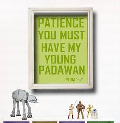 YODA QUOTE - Star Wars Wall Art -Star Wars Nursery- Star Wars Kids - Typography - Nursery Decor- Kids Room Decor- Baby Star Wars- on Etsy, $11.00