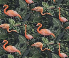 Dress fabric to buy online from Fabric Godmother. Buy ex designer and fashion fabrics and indie sewing patterns Canvas Fabric, Cotton Canvas, Fashion Fabric, Flamingo, Sewing Patterns, Tropical, Design, Indie, Material