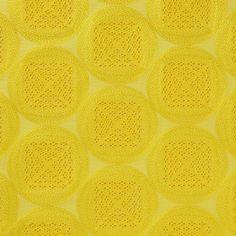 【方円彩糸花網 黄(中川政七商店)】/日本に現存する最古のレース「方円彩糸花網」は、唐招提寺が所蔵する国宝。その1200年前のレースを現代のレース刺繍で表現しました。刺繍の隙間から覗くカラフルな裏地が挿し色として映えるテキスタイルです。 #japanesetextiles #textile #patterns