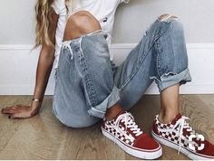 red checkered vans!