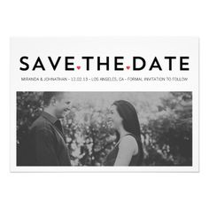 CHIC HEARTS Photo Save The Date Invites #wedding