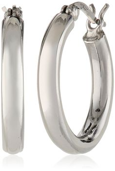 Sterling Silver 3mm Round Tube Hoop Earrings -- Find out more about the great product at the image link.