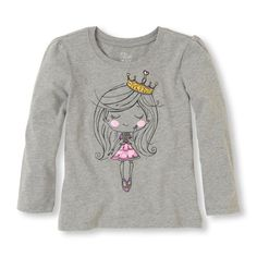 A royally cute tee for the princess in your household!