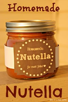 Easy Homemade Nutella: A Recipe – Diary of a Mad Crafter Homemade Nutella Recipes, Chocolate Recipes, Homemade Chocolate, Homemade Gifts, Kitchen Aid Recipes, Cooking Recipes, Budget Cooking, Cooking Stuff, Vitamix Recipes