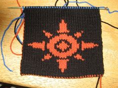 "My brother asked my why I'm knitting sun symbols on a scarf.  I showed him the symbol I'm going to do next and he just gave me a blank look.  ""They're Digimon crests."" I reminded him.  ""You're weird."" he said as he walked away shaking his head.  He's probably right. But this is going to be the coolest scarf ever."